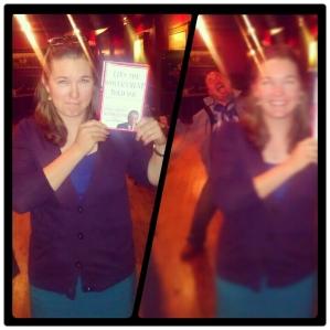 Kelly was the winner of the door prize!